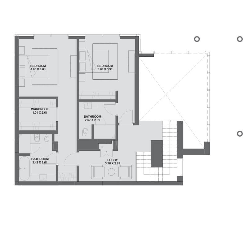 Plan for Upper Floor -  Hartland Greens