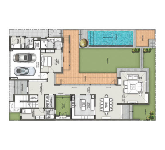 Forest Villas Dubai Floor Plan